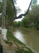 Park along the river off of Navoiy in Tashkent.