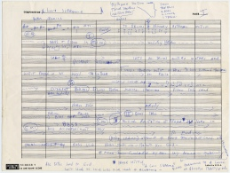 "John Coltrane's score for ""A Love Supreme."""